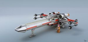 Lego X-wing by DudQuitter