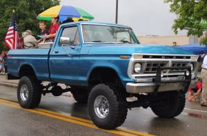 Big Ford Truck -  Greenback 4th July parade 2015 by CrystalMarineGallery