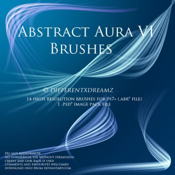 Abstract Aura VI Brushes by differentxdreamz