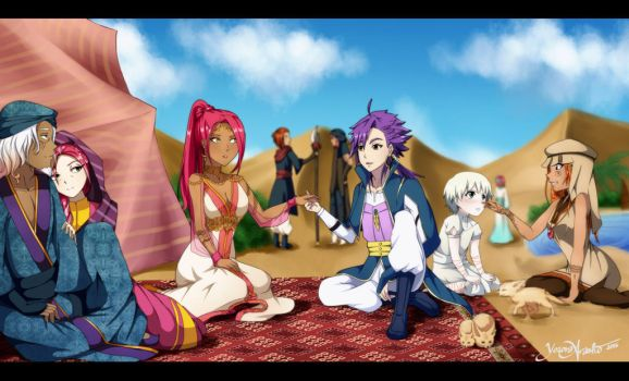 .:Magi Oc:. Once upon a time... in the desert by YozoraArashi