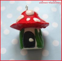 toadstool house charm by citruscouture