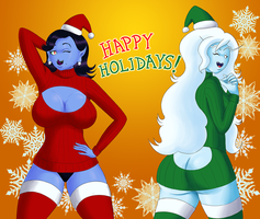 Hunsonia And Ice Queen Sweaters by ekusikha