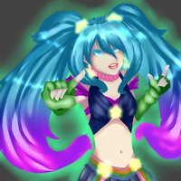 League of Legends - Arcade Sona by KasaPUPPY