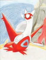 LATIAS used PSYCHIC -color- by DragonArtist16