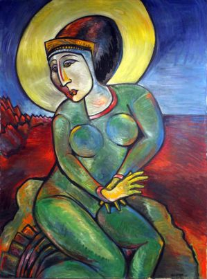 Madonna of the Red Mountains by JohnPaulHunter