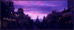 Main Street By Night by Anawielle
