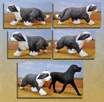 Dog sculpture- Bearded Collie by Tephra76