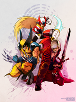 MvC Slash Trio by wheaman