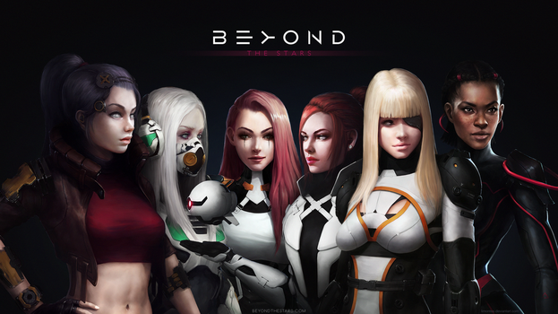Wallpaper 7 - BEYOND THE STARS by LimonTea