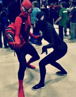 Dat Ass, uh I mean Spiderman and Black Spiderwoman by Mobis-New-Nest