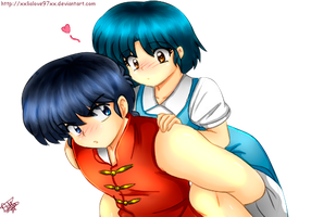 Ranma 1/2 - Ranma and Akane by LiaMenietowLove