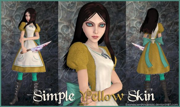 A:MR Skin - Simple Yellow by EvanescentAngel666