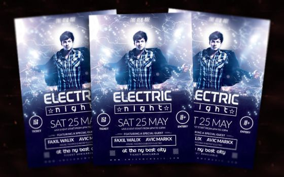 Electric Night Flyer by bl4ckocreation