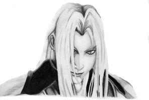 Sephiroth Pencil by AxelFlame8
