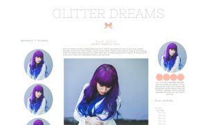 Glitter Dreams Blogger Template by candypow