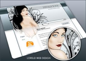DivaLicious wordpress theme by Loreleike