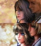 Patreon Screenshot Redraw: Yuna and Tidus by galia-and-kitty