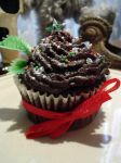 Christmas Fudge Cupcakes by Sliceofcake
