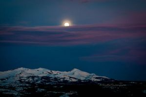 Moon rise in blue by kayaksailor