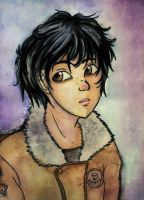 Nico di Angelo  (watercolors) by You-burn-with-us