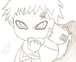 Gaara chibi by LelouchVladmont