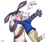 Jack Frost and Bunnymund 4 by saeru-bleuts