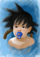 Baby Son Goku by OmaruIndustries