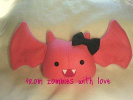 Pinky the Little Bat Plush by fromzombieswithlove