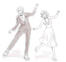 Dancing France and Fem!America by maybebaby83