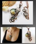 Sheila- wire wrapped copper necklace by mea00