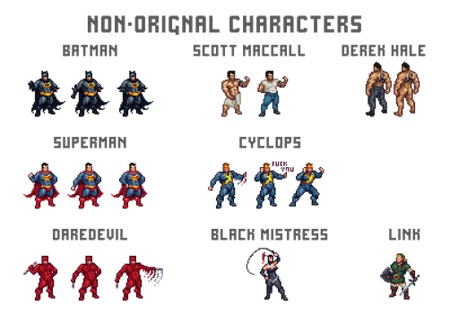 Sheet Non-original characters by Remietc