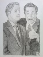 Jon Stewart and Stephen Colbert by OhSnapStephanie