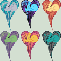 Moar Heart Ponies! Adoptables by sararini