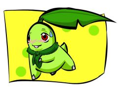 Mystery Dungeon: Chikorita by Iron-Zing