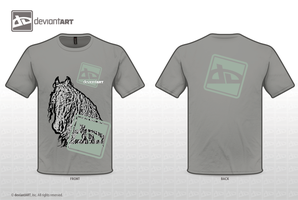 dA Logo T-Shirt contest horse by Nexu4