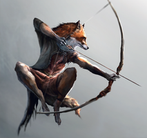 Fox archer by Ketunleipaa