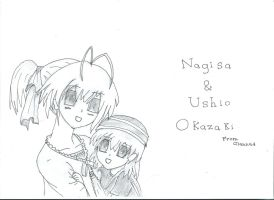 Nagisa and Ushio by mangasareawesome