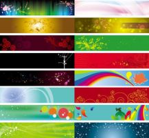 banner background Vector templates by vectorbackgrounds