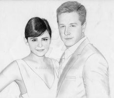 Ginnifer Goodwin and Josh Dallas- Comic Con by julesrizz