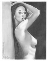 My ART DRAWING:Nude Girl by OlgaBell