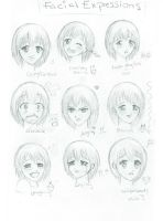 Facial Expressions _OLD_ by DreamerWhit