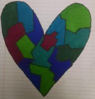 Paper Stain-Glass Heart by JAWALORD