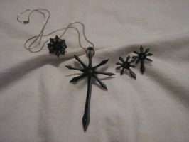 The Black Cross Jewelry by kamiiyu
