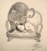 Dino and Panda and Mimi the Kitty by MelodicInterval