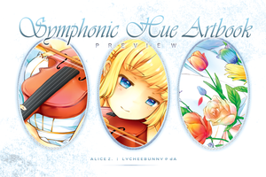 Symphonic Hue Charity Artbook: Preview by lycheebunny