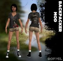 TOMB RAIDER: Samantha backpacker MOD by doppelstuff