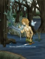 Link in Fairy Lake FINISHED by Momo-Deary