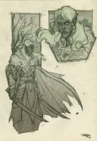 Drizzt - sketch 2010 by DenisM79