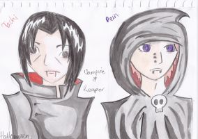 Itachi and Pein for Halloween by beautifulartisabang