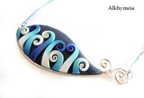 Blue, the Necklace by Alkhymeia